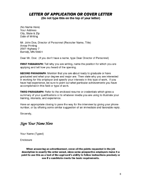 Cómo dirigir una carta de presentación sin nombre