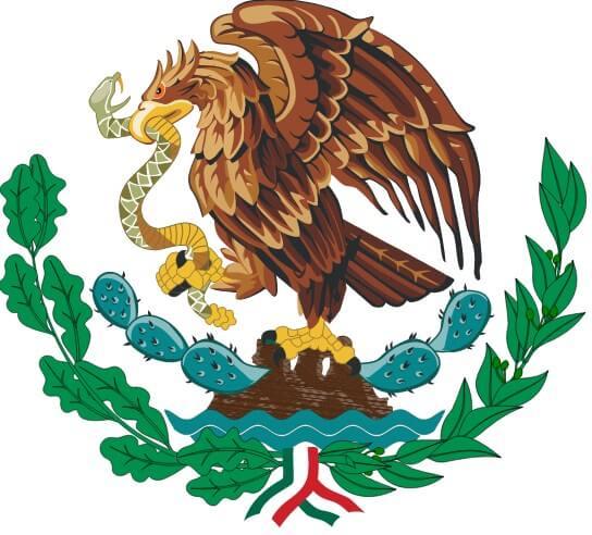 Bandera mexicana - El águila y el cactus