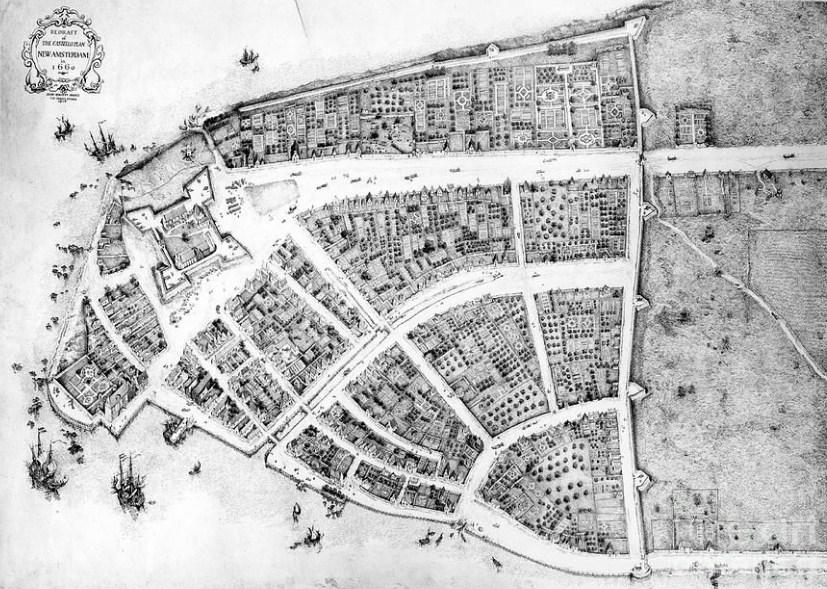 Mapa de Nueva York del siglo XVII