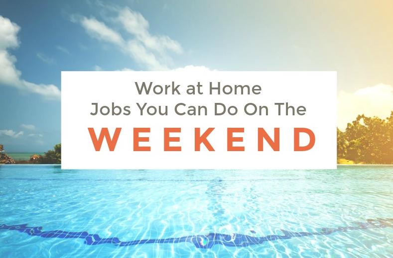 Trabajos de fin de semana desde casa