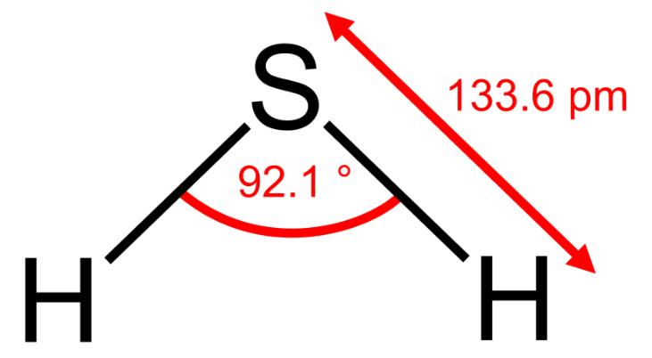 Fórmula y estructura del ácido hidrosulfúrico