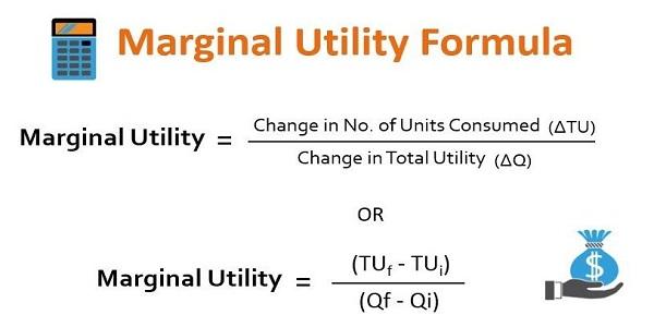 Fórmula de utilidad marginal